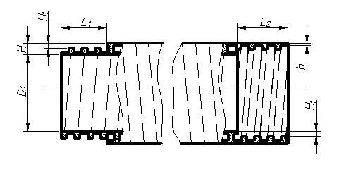 Размерный ряд труб СПИРОЛАЙН и резьбовых модулей